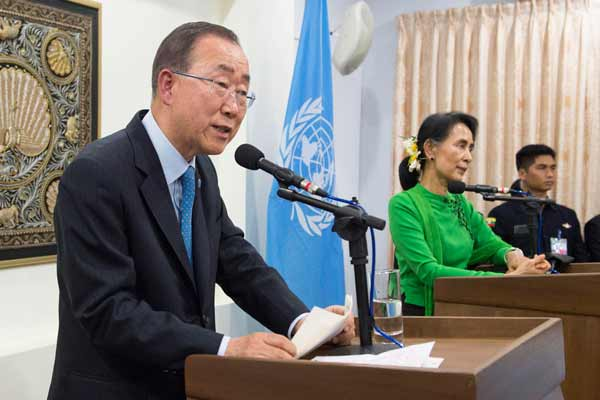 In Myanmar, UN chief spotlights country's challenging path towards multi-ethnic democracy