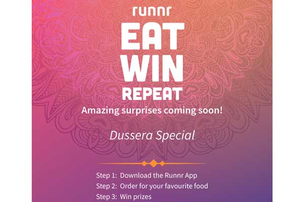 "This festive season ""Eat, Win, Repeat with Runnr"""