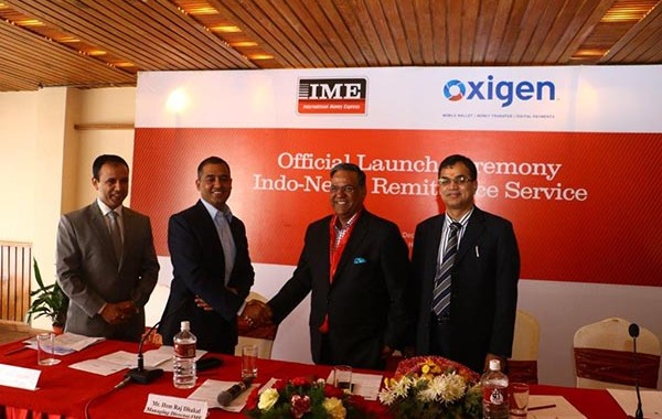 IME Ltd. and Oxigen Services India jointly launch Indo-Nepal Remittance Service