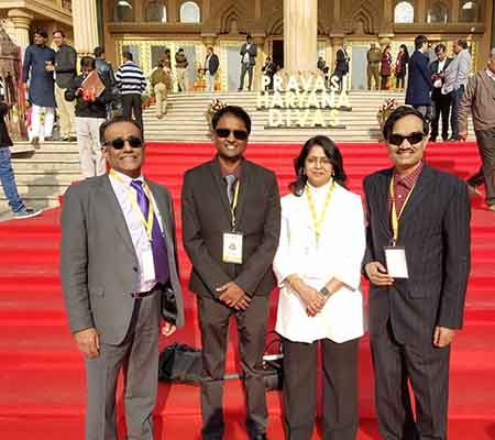 Chicagoans robustly represented at Global Indian Diaspora conference in India