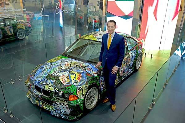 The BMW Art Car by Sandro Chia celebrates its 25th anniversary in India with an exclusive display at India Art Fair.