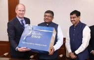 Cisco today, handed over the first Made in India product to the Minister of Law & Justice and Electronics and Information Technology, Government of India
