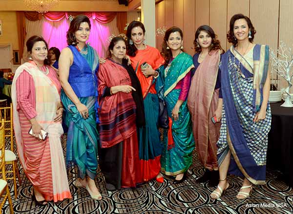 "The Indo-American Heritage Museum's reveal  ""Unstitched: The Art of Sari Draping"""