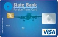 State Bank VISA Foreign Travel card distribution alliance with Cox & Kings LTD