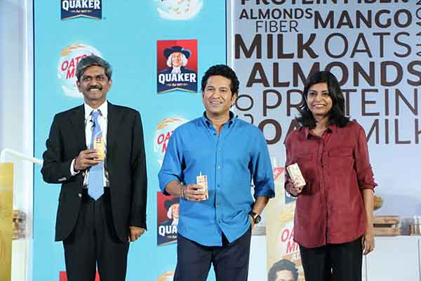 PepsiCo India and Sachin Tendulkar team up for a masterstroke with Quaker Oats+Milk