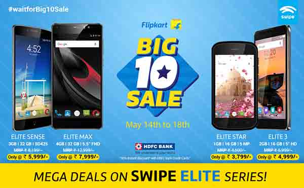 Swipe ELITE series made even more affordable in the FLIPKART Big 10 Sale!