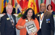 Hina Trivedi received the Melwin Jones Fellow award for Dedicated Humanitarian Services from the Lions Club International Foundation