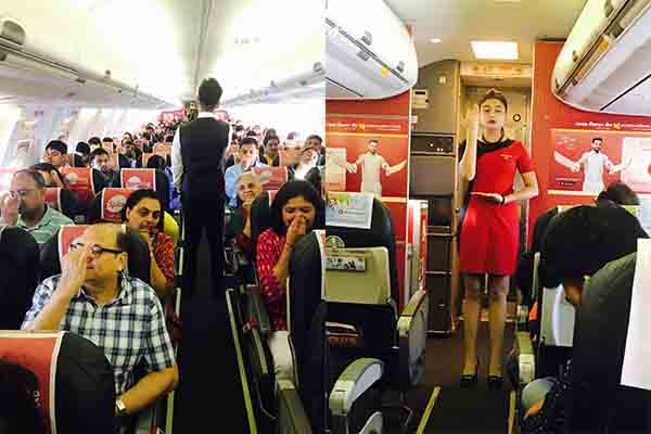 SpiceJet recreates the magic of Yoga@35000 feet