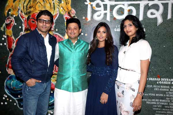 Varun Dhawan and Alia Bhatt along with Reshma and Riyaz Gangji of Libas released the Deva Deva song of Ganesh Acharya's Marathi film Bhikari at PVR Ikon
