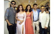Neetu Chandra and Shahwar Ali launched the 11th store of Libas Riyaz and Reshma Gangji in Delhi.