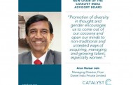 Catalyst announces Arun Kumar Jain as Chair of Catalyst India Advisory Board