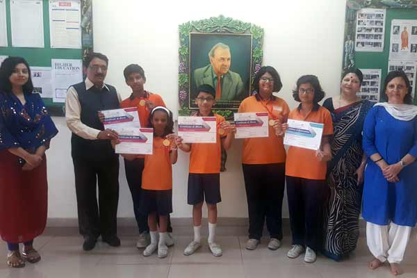 Six Students of Suryadatta National School bag gold medals at the English Marathon State Level Competition 2017