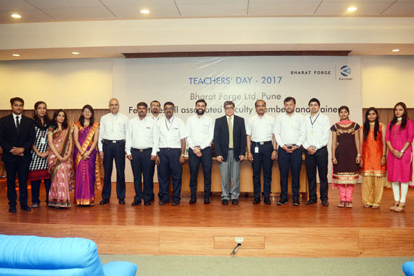 Bharat Forge celebrated Teacher's Day to felicitate associated faculty members
