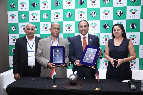MoU Between The Oil Technologists' Association of India – West Zone (OTAI - WZ) And Malaysian Palm Oil Council (MPOC)