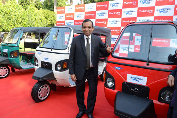 Mahindra launches e-Alfa Mini electric rickshaw for passenger movement