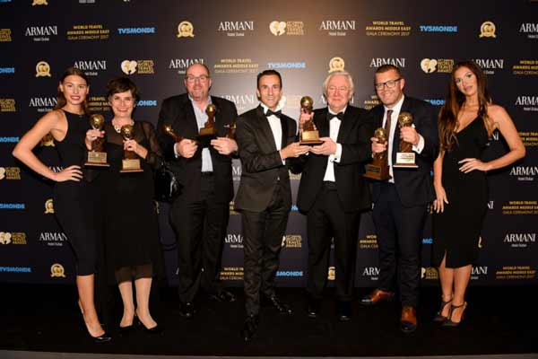Jumeirah celebrates its win at World Travel Awards Middle East Gala Ceremony