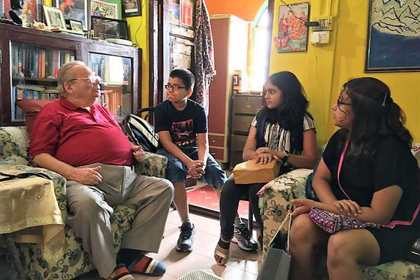 Pune based Shlok Sand meets Ruskin Bond in Mussoorie