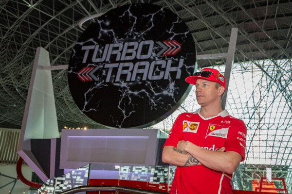 Räikkönen calls in at Ferrari World Abu Dhabi ahead of Formula 1 Grand Prix