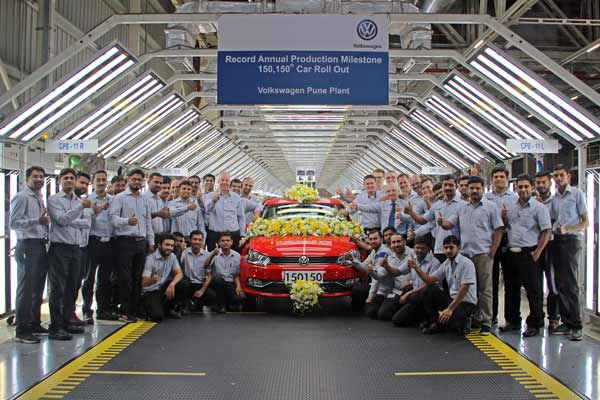 Record year for Volkswagen India: 150,150 cars produced in 2017