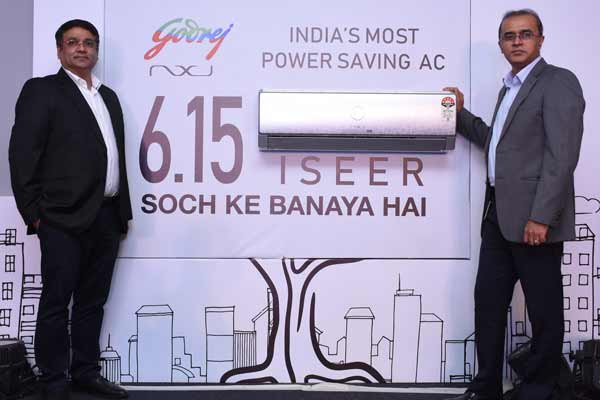 Godrej Appliances sets new benchmark by launching India's most power saving AC with 6.15 ISEER