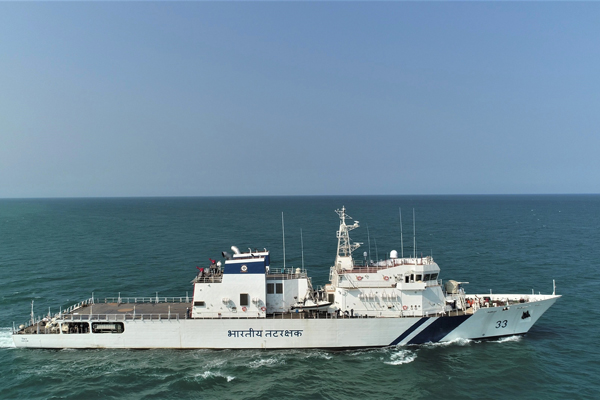 L&T Built Offshore Patrol Vessel Commissioned for Indian Coast Guard