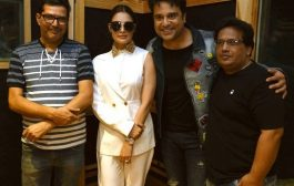 Mahurat and title song recording of hindi comedy film Time Nahi Hai at AVM Studio, Andheri