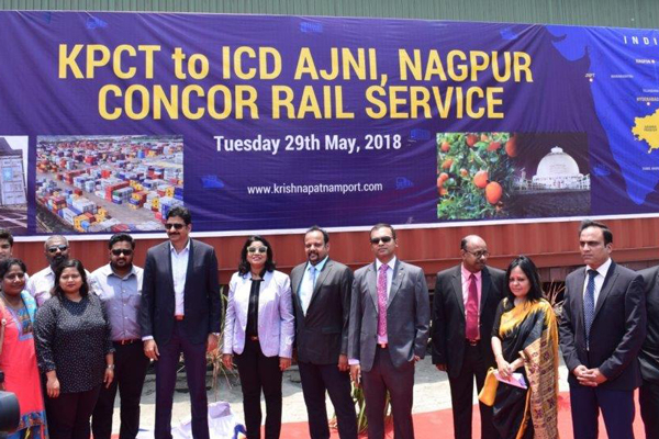 Krishnapatnam Port & CONCOR launch new rail service to Central India