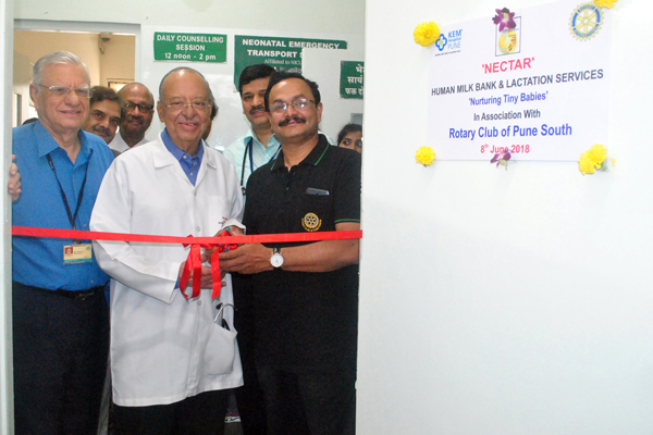 Rotary Club of Pune South Donates Human Milk Bank to KEM Hospital, Pune