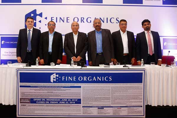 Fine Organic Industries Limited Initial Public Offering to open on June 20, 2018 to close on June 22, 2018