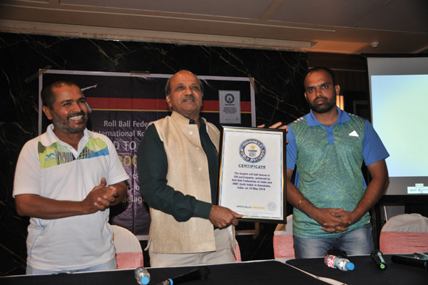​​ Pune invented game, Roll Ball bags place in Guinness World Records