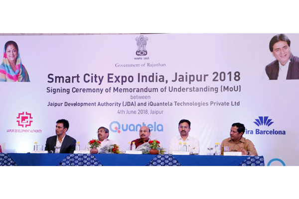 Jaipur Development Authority and Quantela announces the hosting of Smart City Expo India event in Jaipur