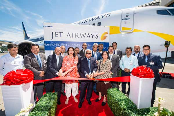 JET AIRWAYS RECEIVES ITS FIRST 737 MAX FROM BOEING