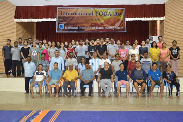 NIBM celebrates International Yoga Day at NIBM