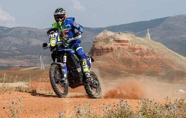 Sherco TVS Factory Rally Team begins the Baja Aragon on a high note