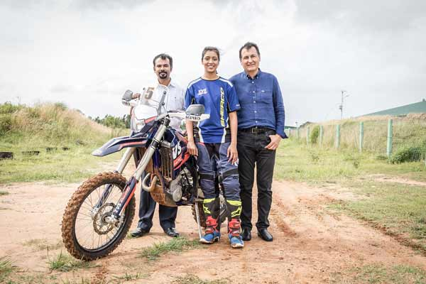 Aishwarya Pissay to be part of Sherco TVS Rally Factory Team squad for Baja Arajon 2018