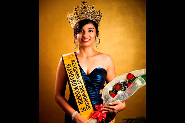 Pune's Jasmine Jadhav crowned 'Mrs Queen of the World International 2018' at Myanmar