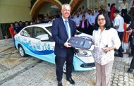 Volkswagen India donates a Vento car to the students of Symbiosis Skills and Open University