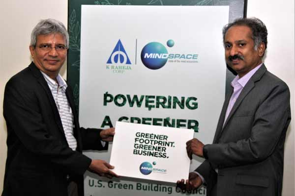 K RAHEJA CORP FORTIFIES ITS COMMITMENT TO GREEN THIS WORLD GREEN BUILDING WEEK (SEPT 24-30) IN PARTNERSHIP WITH GBCI