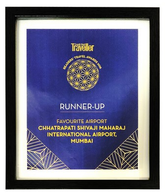 Mumbai International Airport Wins Second Place in the Favourite Airport Category at The 8th Edition Of Condé Nast Traveller Readers' Travel Awards