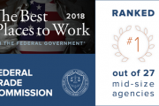 "FTC Tops the List of ""Best Places to Work"" Among Mid-Size Federal Agencies"