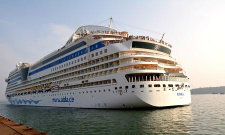 High-end tourists sail into Goa on luxury cruise vessels