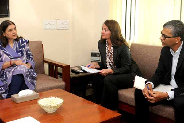 Maneka Sanjay Gandhi holds meeting with Melinda Gates on nutrition issues of women and children