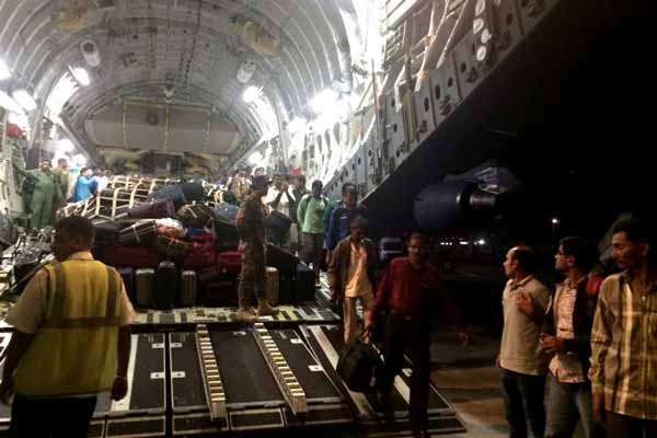 Indians evacuated from reached Mumbai airport