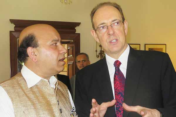 BJP's Jolly congratulates Sir James Bevan UK Envoy on Conservative Party win in UK Election
