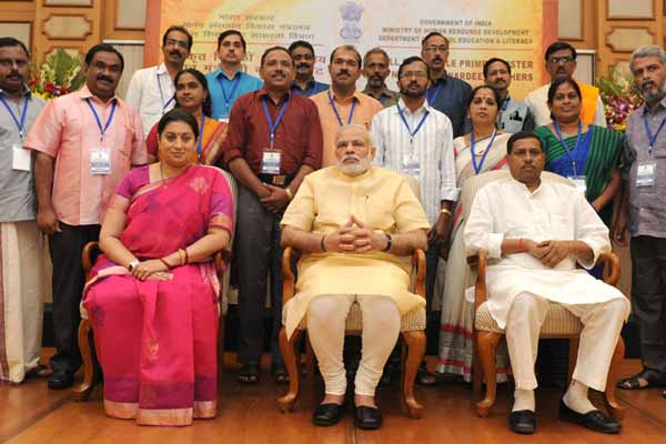 PM's informal interaction with National Awardee Teachers' on the eve of Teachers' Day