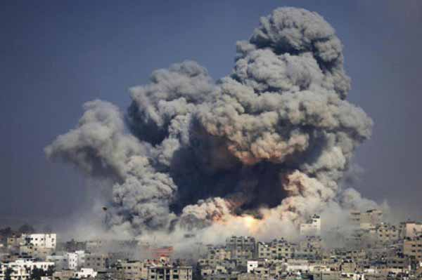 Israeli Air raid hits Gaza after rocket attack