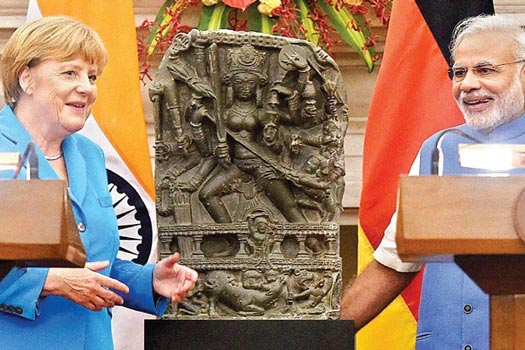 Modi, Merkel discuss technology in Bengaluru