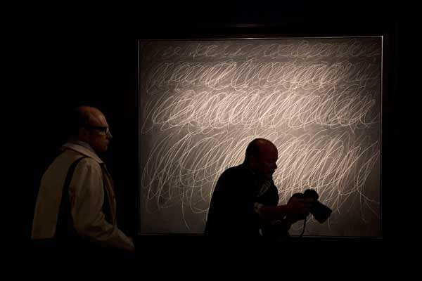 Cy Twombly's 'Blackboard' painting goes for record $70.5 mn in NY