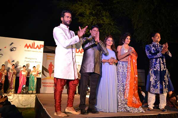 Marathi actors grace the ramp for a glamorous charity show for drought affected families