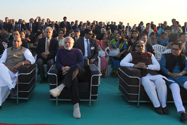 PM arrives in Dhordo, attends inaugural session of Conference of DGPs